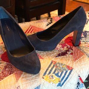 Tahari Blue Suede Heels